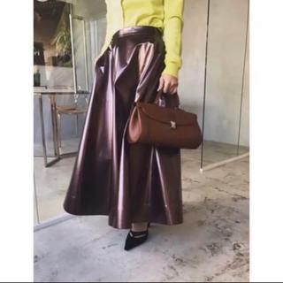 Ameri VINTAGE - Ameri vintage エナメルフレアスカート