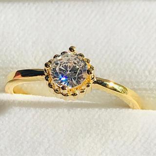 シンプル ラウンド一粒リング レディース 指輪(リング(指輪))