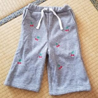 プティマイン(petit main)のプティマイン チェリー刺繍ワイドパンツ(パンツ)