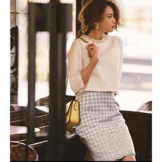 アプワイザーリッシェ(Apuweiser-riche)のアプワイザーリッシェ 裾レースギンガムチェックスカート♡(ひざ丈スカート)