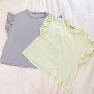 millebonheurミルボヌール☆フリルTセット(Tシャツ(半袖/袖なし))