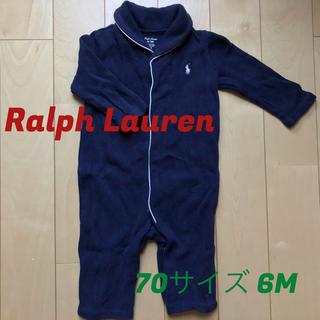 Ralph Lauren - 美品☆ラルフローレン☆70  6M☆厚手柔らかカバーオール