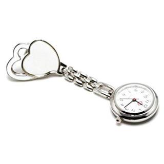 ナースウォッチ ハート柄 クリップ式 逆さ文字盤(腕時計)