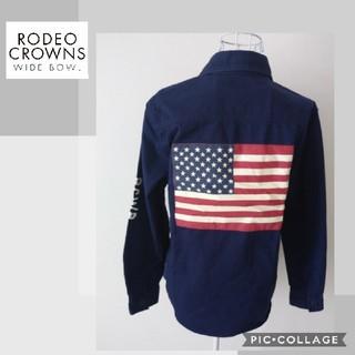 ロデオクラウンズワイドボウル(RODEO CROWNS WIDE BOWL)の【ロデオクラウンズワイドボウル】ミリタリーシャツ(ミリタリージャケット)