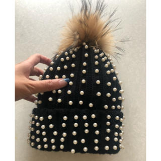 BEAUTY&YOUTH UNITED ARROWS - 新品未使用 ポンポン帽子 真珠付き ニット 帽