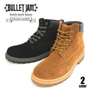 ☆BULLET JAM☆本革イエローブーツ 6インチワークブーツ BJ-5126(ブーツ)
