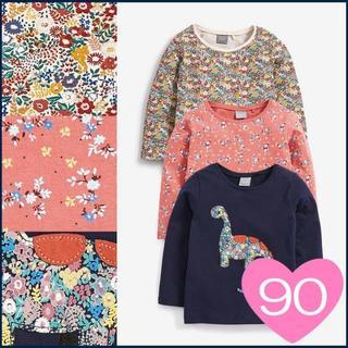 ネクスト(NEXT)の*90*恐竜&小花 Tシャツ 3 枚組(Tシャツ/カットソー)