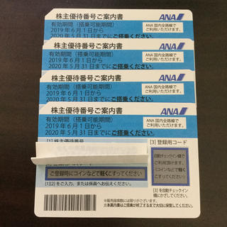 ANA(全日本空輸) - ANAホールディングス 株主優待券 4枚