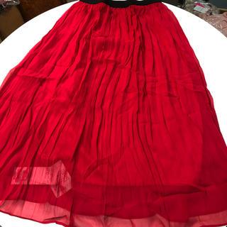 アクアガール(aquagirl)の新品アクアガール 赤スカート定価8925円(ひざ丈スカート)