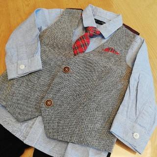 ネクスト(NEXT)のNEXT シャツ、ベスト、ネクタイセット 86cm(シャツ/カットソー)