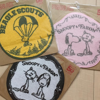 スヌーピー(SNOOPY)の新品  スヌーピー & ファーロン & ウッドストック ミニタオル 3枚セット(タオル)
