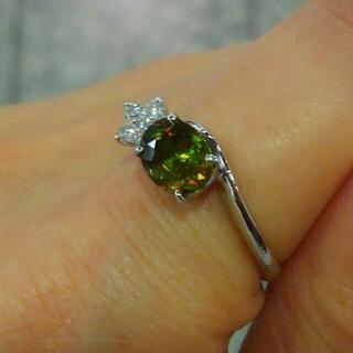 クロムスフェーンのリング ダイヤ スフェーン(リング(指輪))