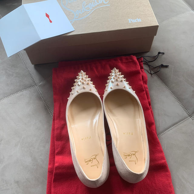 Christian Louboutin(クリスチャンルブタン)のクリスチャンルブタン フラットシューズ 36.5 中古 レディースの靴/シューズ(バレエシューズ)の商品写真