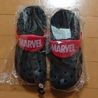 マーベル(MARVEL)のマーベル クロックス ボア付き 22-23cm ブラック!!(キャラクターグッズ)