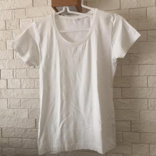 ムジルシリョウヒン(MUJI (無印良品))のTシャツ  白(Tシャツ(半袖/袖なし))