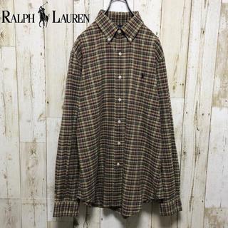 ラルフローレン(Ralph Lauren)のラルフローレン  ワンポイント  刺繍ロゴ アースカラー チェック シャツ(シャツ)