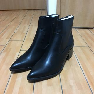 エイソス(asos)のヒールブーツ メンズ ショートブーツ 黒 27cm 28cm(ブーツ)