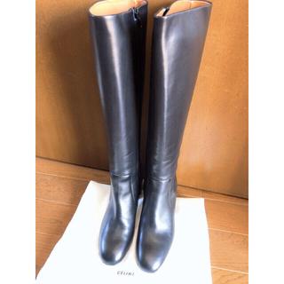 セリーヌ(celine)の新品 未使用 ロングブーツ 黒 セリーヌ ブーツ 38(ブーツ)