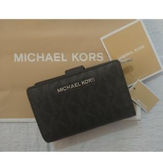 Michael Kors - 週末セール❗最新作  ❗マイケル・コース二つ折り財布  ブラック