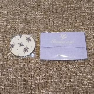 サマンサモスモス(SM2)のSamansa Mos2 新品 ティッシュポーチ & 生地巻きミラー(ミラー)