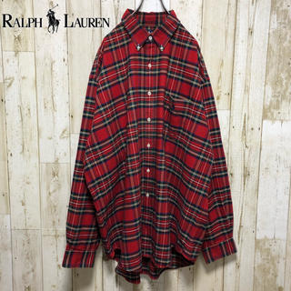 ラルフローレン(Ralph Lauren)のラルフローレン  ビッグサイズ チェック ワンポイント  刺繍ロゴ BDシャツ(シャツ)