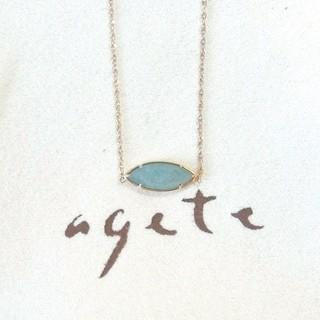 agete - アガット アベンチュリンクォーツのK10ネックレス