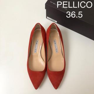 PELLICO - 裏張り済み ★ ペリーコ チャンキーヒール パンプス 赤