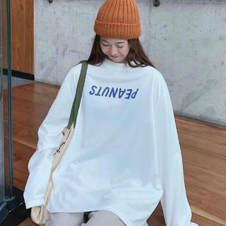 スヌーピーのロンT ビックシルエット バックプリント X L(Tシャツ(長袖/七分))