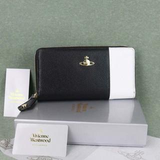 Vivienne Westwood - ヴィヴィアン ウエストウッド長財布 55337黒白正規品