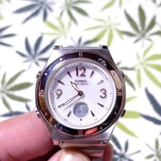 カシオ(CASIO)の電波ソーラー 腕時計 ウェーブセプター lwa-m141 文字盤ホワイト(腕時計)