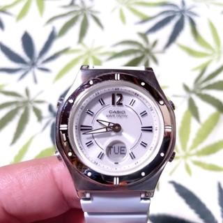 カシオ(CASIO)の電波ソーラー 腕時計 ウェーブセプター lwa-m142 ブルー(腕時計)