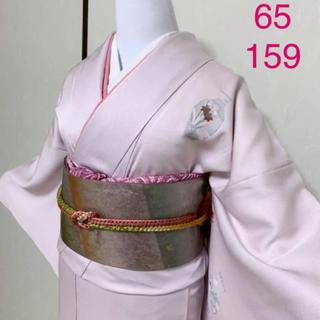 《京友禅•金彩》薄ピンク色に壺模様付下げ着物セット(着物)