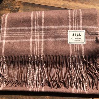 JILL by JILLSTUART - 新作 モカピンク チェックストール ジルバイ ネット限定 2019