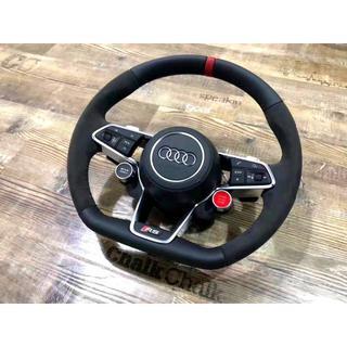 AUDI - Audi R8 ステアリングホイール ハンドル レッドセンターマーク仕様