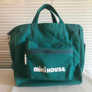 ミキハウス(mikihouse)のミキハウス マザーズバッグ 緑 グリーン キャンバス(マザーズバッグ)