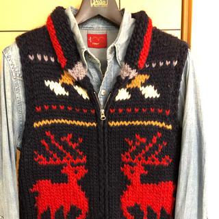 ビームス(BEAMS)のビームスハート カウチンベストセーター 上級のいい感じ❣️(ニット/セーター)