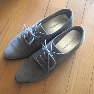 オリエンタルトラフィック(ORiental TRaffic)のオリエンタルトラフィック♡完売レースアップシューズおじ靴ウイングチップグレー(ローファー/革靴)