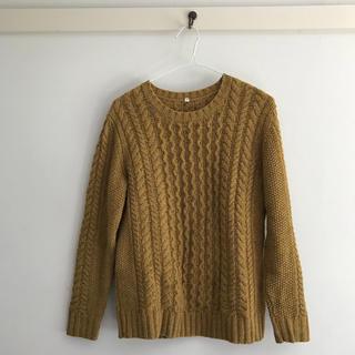MUJI (無印良品) - 無印 ウール セーター 芥子色
