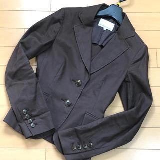 エムプルミエ(M-premier)のM-PREMIER 綿麻ジャケット 34(テーラードジャケット)