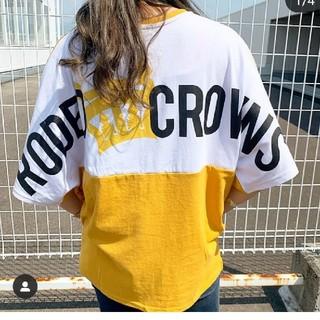 ロデオクラウンズワイドボウル(RODEO CROWNS WIDE BOWL)のバイカラーT(Tシャツ(半袖/袖なし))
