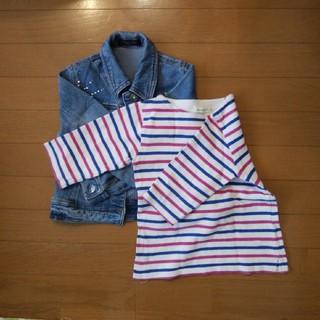 こども ビームス - BEAMS kids  Tシャツ110 七分そで ストライプ柄