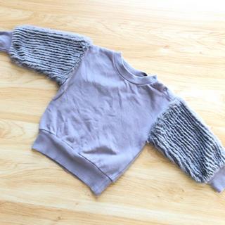 プティマイン(petit main)のプティマイン  袖ボアニット(ニット/セーター)