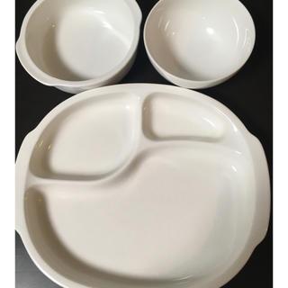 ニッコー(NIKKO)の【オマケ付】ニッコー ベビーホワイト3点セット(プレート/茶碗)