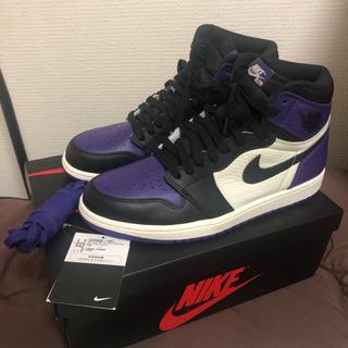 ナイキ(NIKE)の最終値下げ NIKE AIR JORDAN 1 court purple (スニーカー)