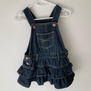 ベビーギャップ(babyGAP)のgapベビー デニムジャンパースカート 80cm(ワンピース)