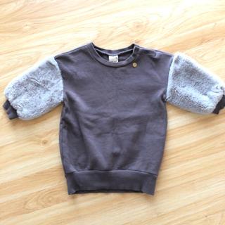 プティマイン(petit main)のプティマイン  袖ボアニット80(ニット/セーター)