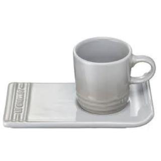 ルクルーゼ(LE CREUSET)のルクルーゼ マグ&トレイ 新品 グレイ(食器)