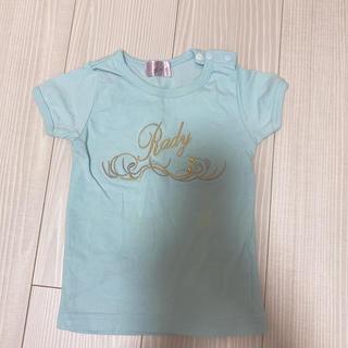 レディー(Rady)のRady ちびRady トップス 半袖 Tシャツ ブルー 90(Tシャツ/カットソー)