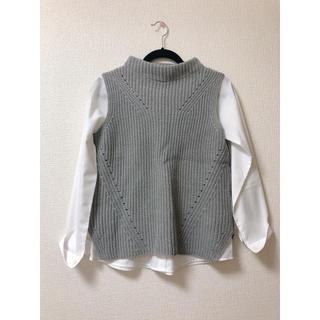 レプシィム(LEPSIM)の【LEPSIM】ノースリーブニット&インナーシャツ(ニット/セーター)