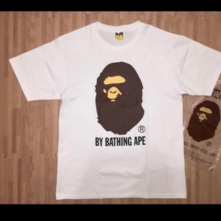 A BATHING APE - ★未使用★ APE 大猿 Tシャツ 白 L シャーク